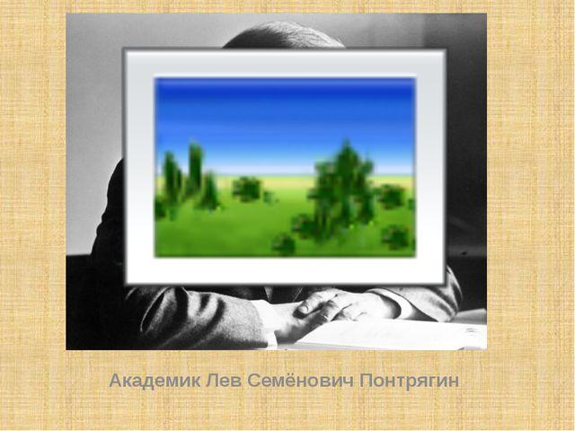 Академик Лев Семёнович Понтрягин