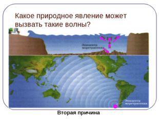 Какое природное явление может вызвать такие волны? Причина следствие Землетря