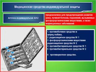 Медицинские средства индивидуальной защиты Аптечка индивидуальная АИ-2 предна