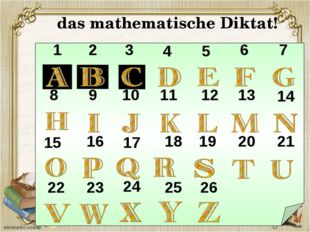 das mathematische Diktat! 1 2 3 4 5 6 7 8 9 10 11 12 13 14 15 16 17 18 19 20