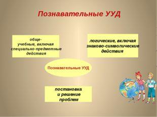 Познавательные УУД Познавательные УУД обще- учебные, включая специально-предм