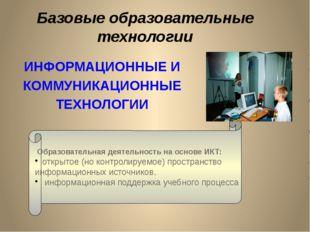 ИНФОРМАЦИОННЫЕ И КОММУНИКАЦИОННЫЕ ТЕХНОЛОГИИ Образовательная деятельность на