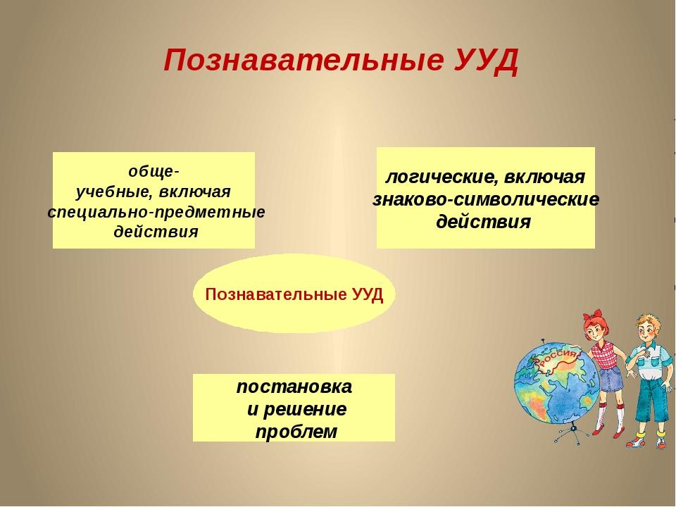 Познавательные УУД Познавательные УУД обще- учебные, включая специально-предм...