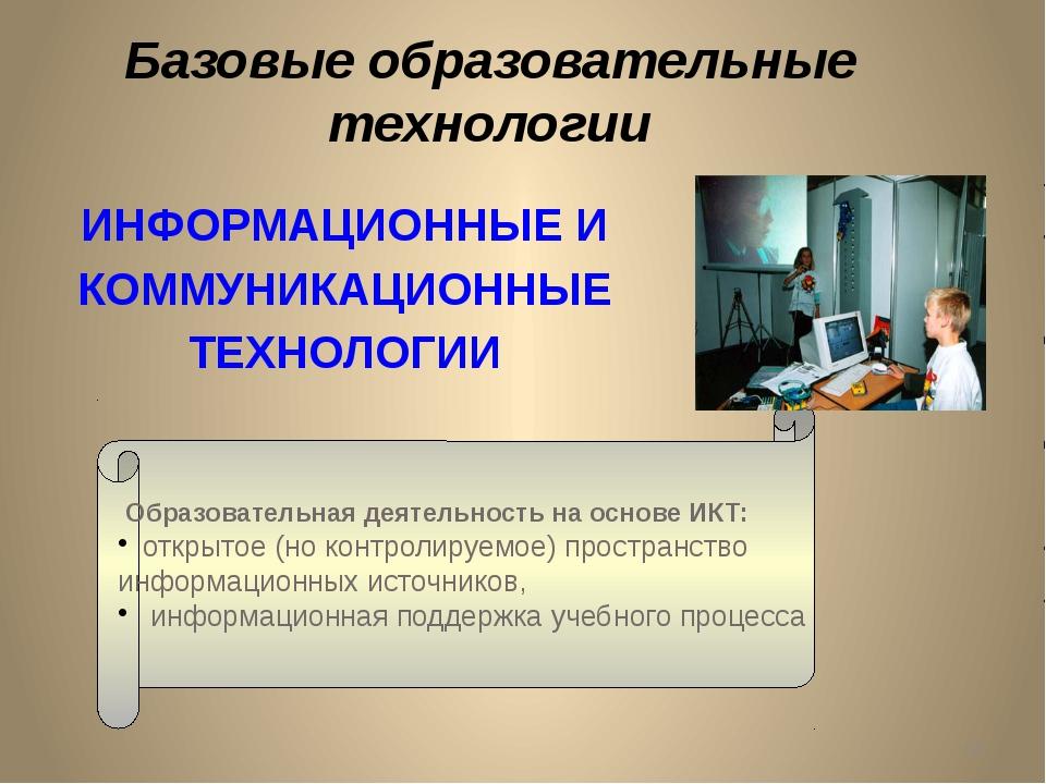 ИНФОРМАЦИОННЫЕ И КОММУНИКАЦИОННЫЕ ТЕХНОЛОГИИ Образовательная деятельность на...