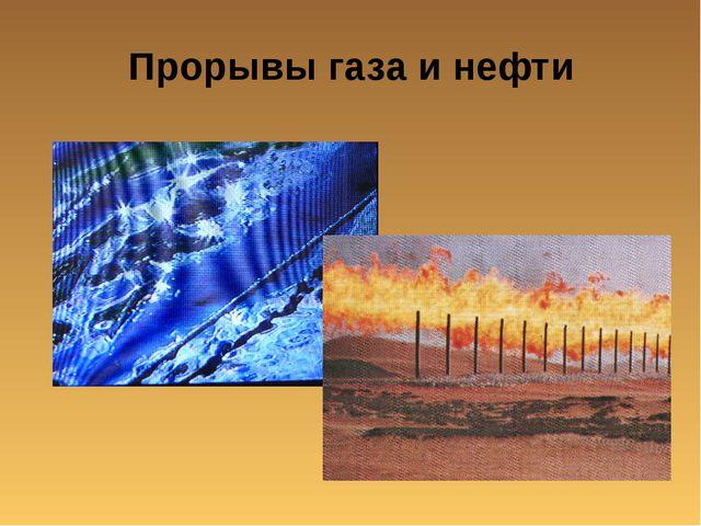 Прорывы газа и нефти