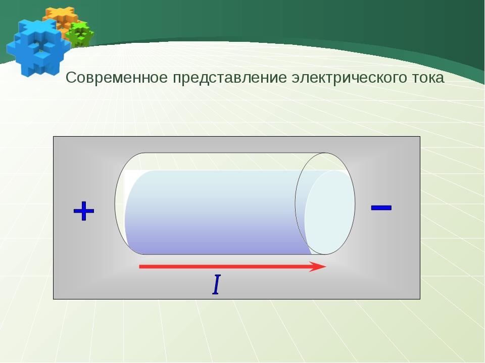 - - - - Современное представление электрического тока
