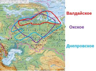Валдайское Окское Днепровское
