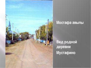 Мостафа авылы Вид родной деревни Мустафино