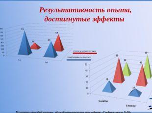 Результативность опыта, достигнутые эффекты Муниципальное бюджетное общеобра