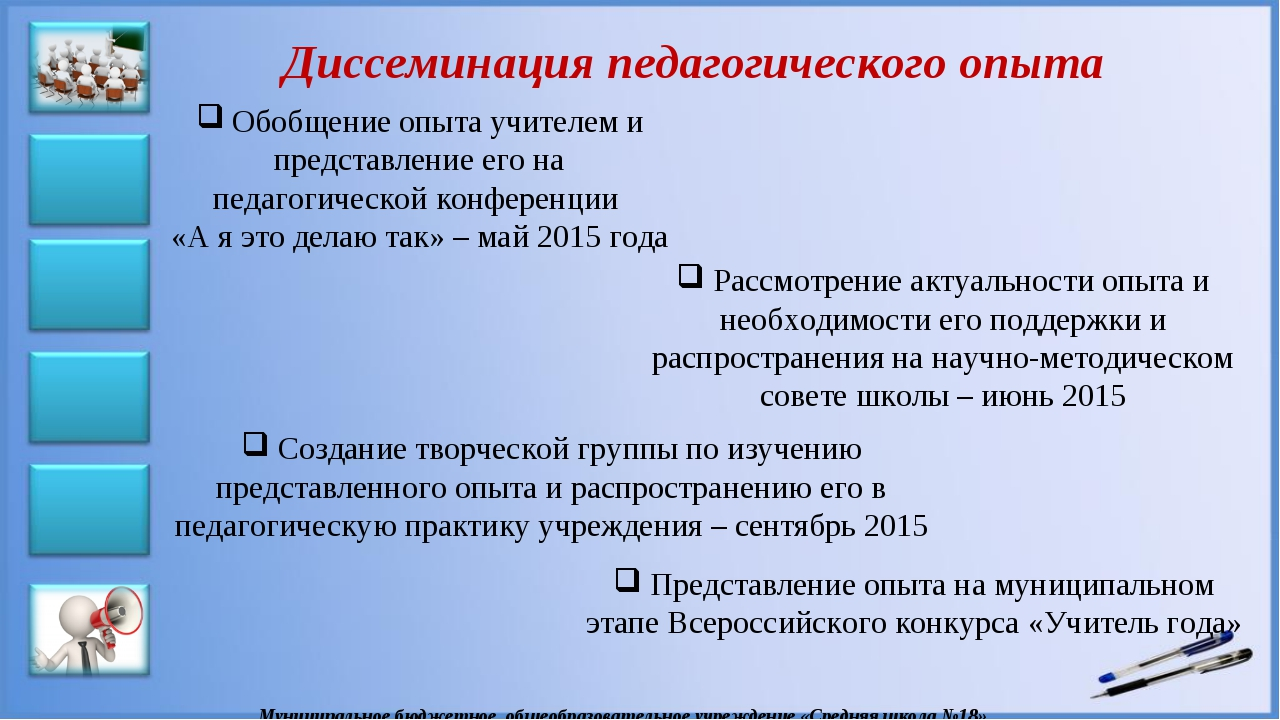 Конкурс диссеминация педагогического опыта