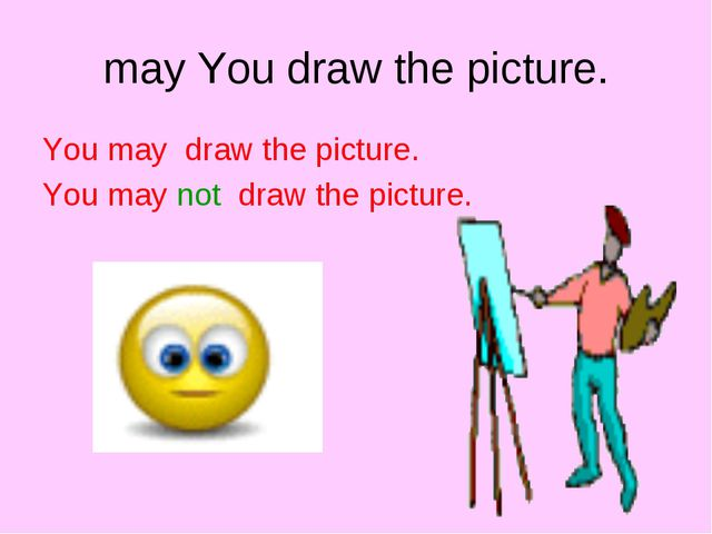 may You draw the picture. You may draw the picture. You may not draw the pict...