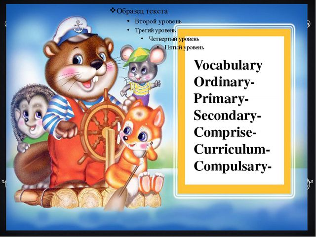 Vocabulary Ordinary- Primary- Secondary- Comprise- Curriculum- Compulsary-