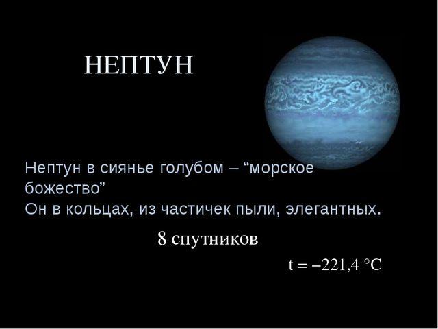"""НЕПТУН Нептун в сиянье голубом – """"морское божество"""" Он в кольцах, из частичек..."""