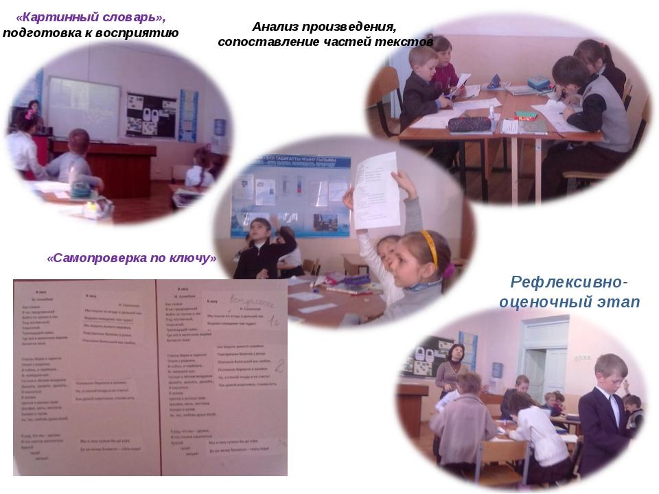 «Картинный словарь», подготовка к восприятию Анализ произведения, сопоставлен...