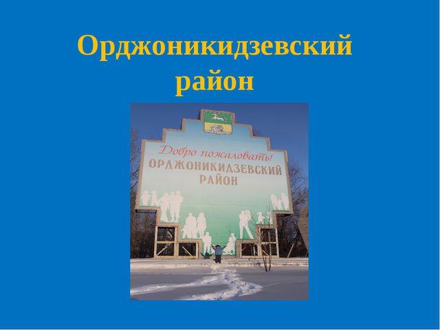 Орджоникидзевский район