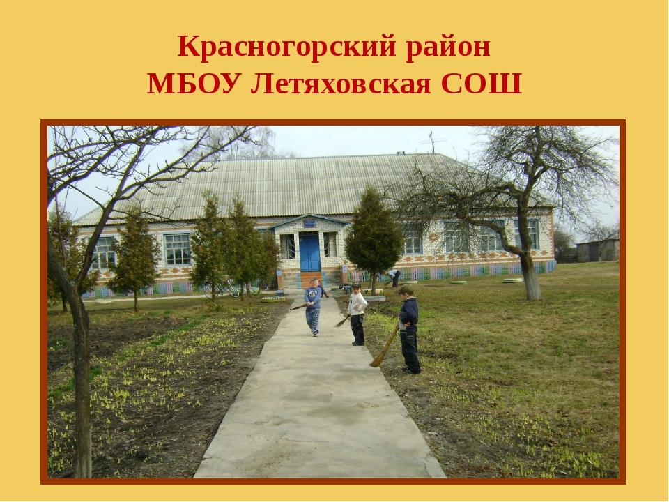 Красногорский район МБОУ Летяховская СОШ