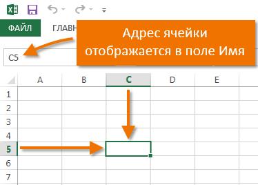 Ячейка в Excel