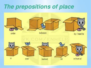 The prepositions of place