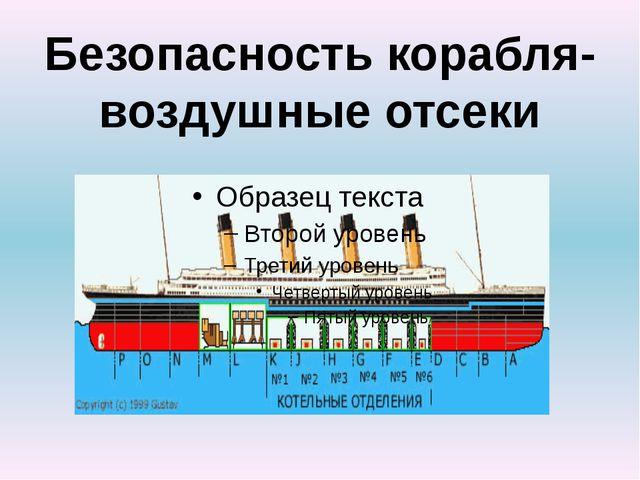 Безопасность корабля- воздушные отсеки