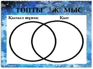ТОПТЫҚ ЖҰМЫС