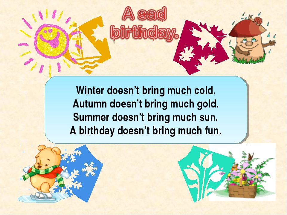 Winter doesn't bring much cold. Autumn doesn't bring much gold. Summer doesn'...