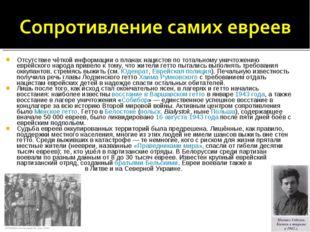 Отсутствие чёткой информации о планах нацистов по тотальному уничтожению евре