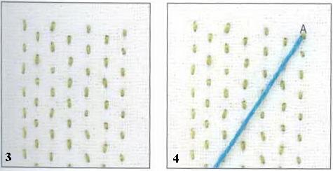 Вышивка Заполняющий шов Мексиканский шов