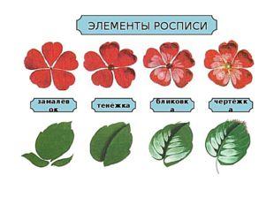 Последовательность выполнения цветка и листа