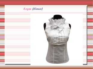 блуза (blouse)