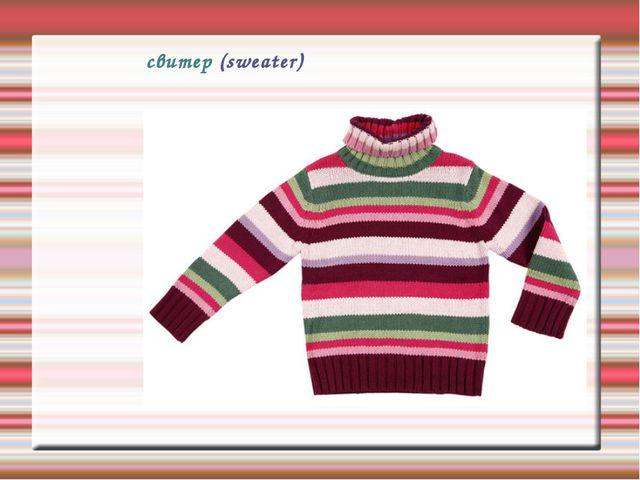 свитер (sweater)
