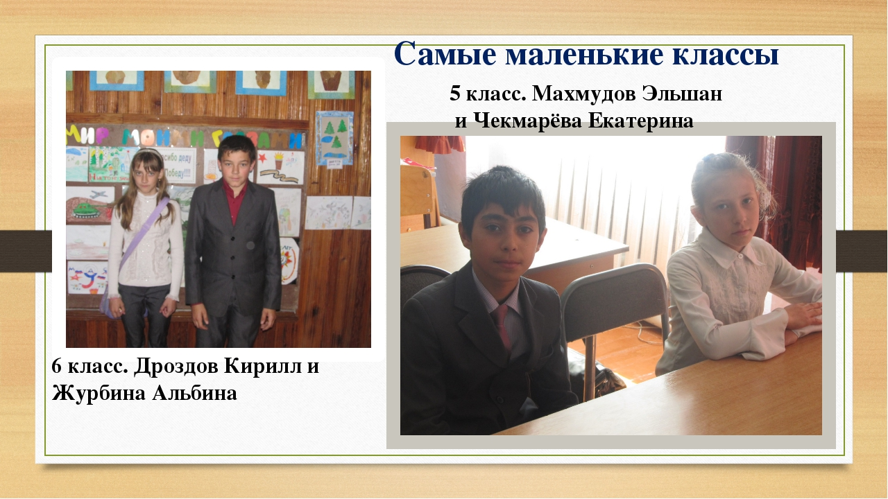 Самые маленькие классы 6 класс. Дроздов Кирилл и Журбина Альбина 5 класс. Мах...