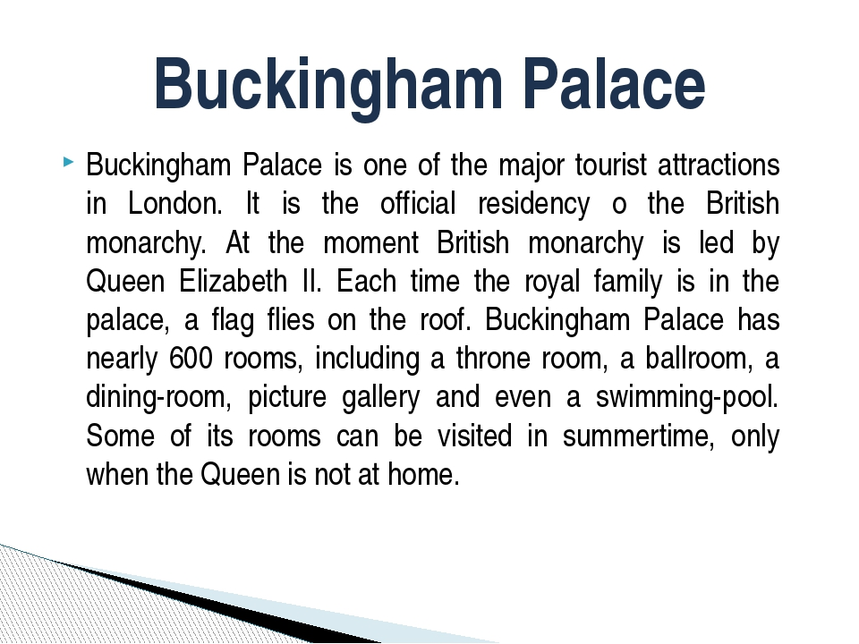 Buckingham Palace is one of the major tourist attractions in London. It is th...