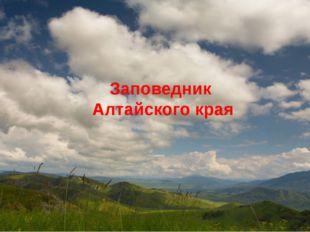 Заповедник Алтайского края