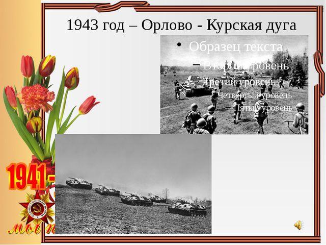 1943 год – Орлово - Курская дуга