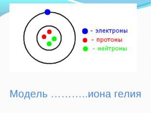 Модель ………..иона гелия