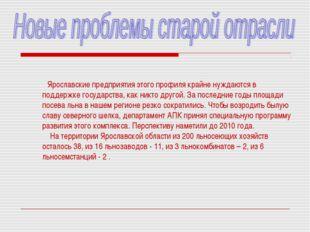 Ярославские предприятия этого профиля крайне нуждаются в поддержке государст