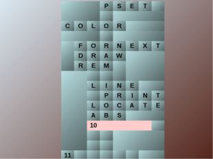 PSET  COLОR  FORNEXT DRAW REM  LINE