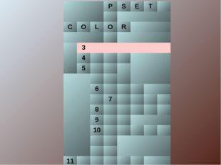 PSET  COLОR  3 4 5  6 7 8