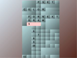 PSET  COLОR  FORNEXT DRAW 5  6 7