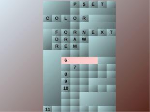 PSET  COLОR  FORNEXT DRAW REM  6 7