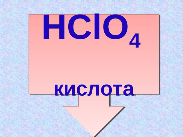 Cl2O7 +H2 O H2Cl2O8 :2 HClO4 кислота