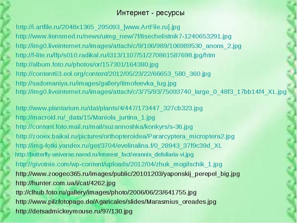Интернет - ресурсы http://i.artfile.ru/2048x1365_295093_[www.ArtFile.ru].jpg...