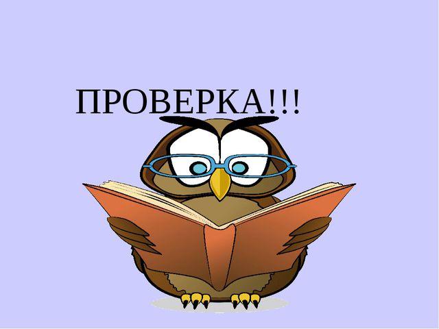 ПРОВЕРКА!!!