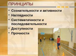 ПРИНЦИПЫ Сознательности и активности Наглядности Систематичности и последоват