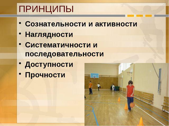 ПРИНЦИПЫ Сознательности и активности Наглядности Систематичности и последоват...