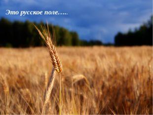 Это русское поле…..