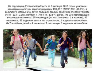 На территории Ростовской области за 6 месяцев 2012 года с участием несовершен