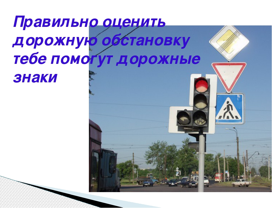Правильно оценить дорожную обстановку тебе помогут дорожные знаки