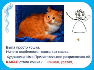 Была просто кошка. Ничего особенного: кошка как кошка. Художница Имя Прилагат