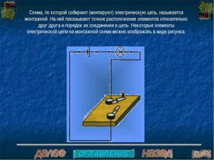 Схема, по которой собирают (монтируют) электрическую цепь, называется монтажн